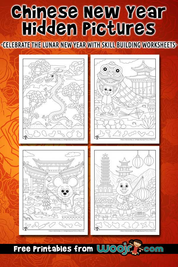 Chinese New Year Worksheets Printable Chinese New Year Hidden