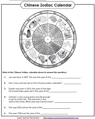 Chinese New Year Worksheets Printable Chinese New Year Worksheets