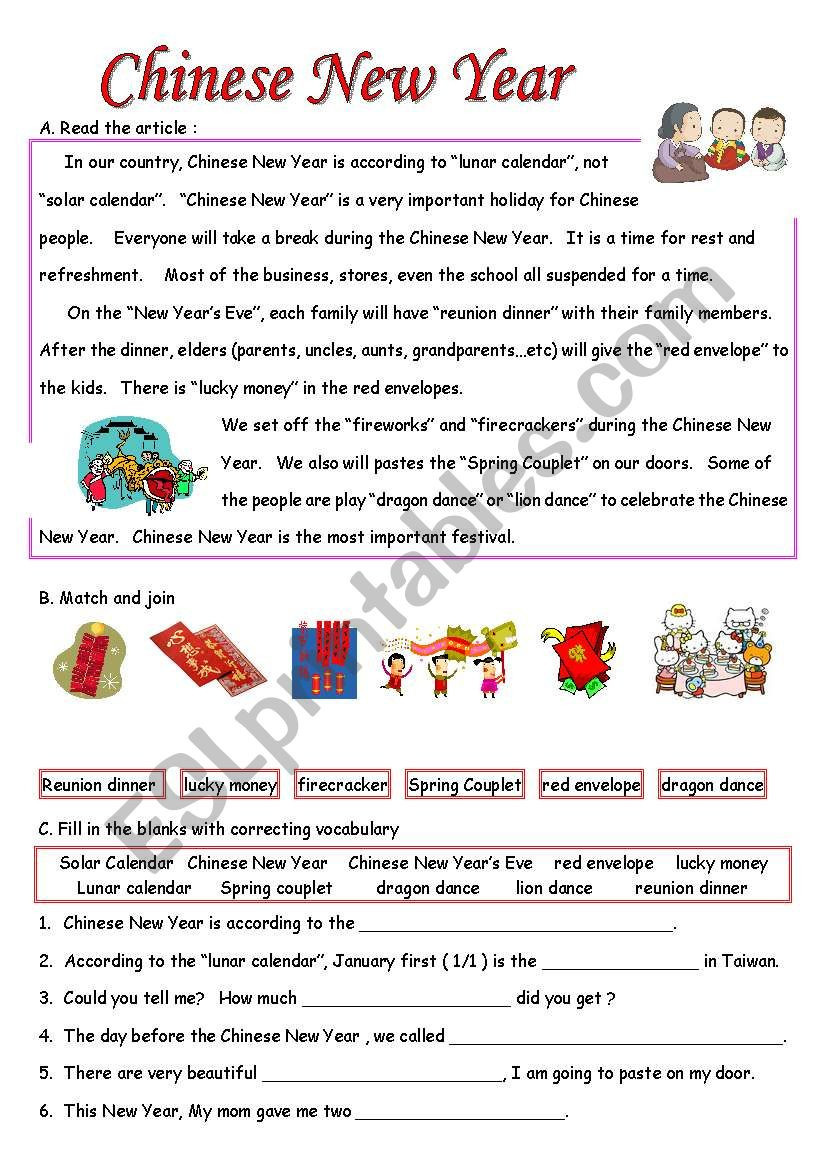 Chinese New Year Worksheets Printable Chinese New Year Worksheetshool Printable Activities