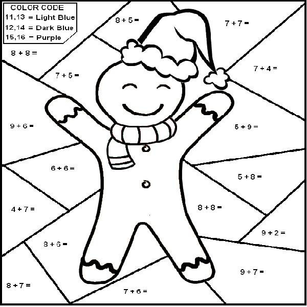 Christmas Multiplication Coloring Worksheets Christmas Math Coloring Pages Coloring Home