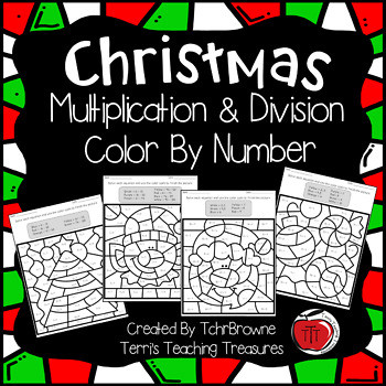 Christmas Multiplication Coloring Worksheets Christmas Multiplication and Division Worksheets