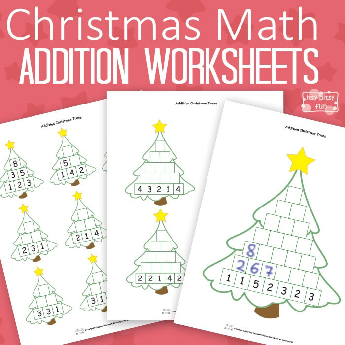 Christmas Tree Worksheet Printable Christmas Math Worksheets Addition Tree Itsybitsyfun