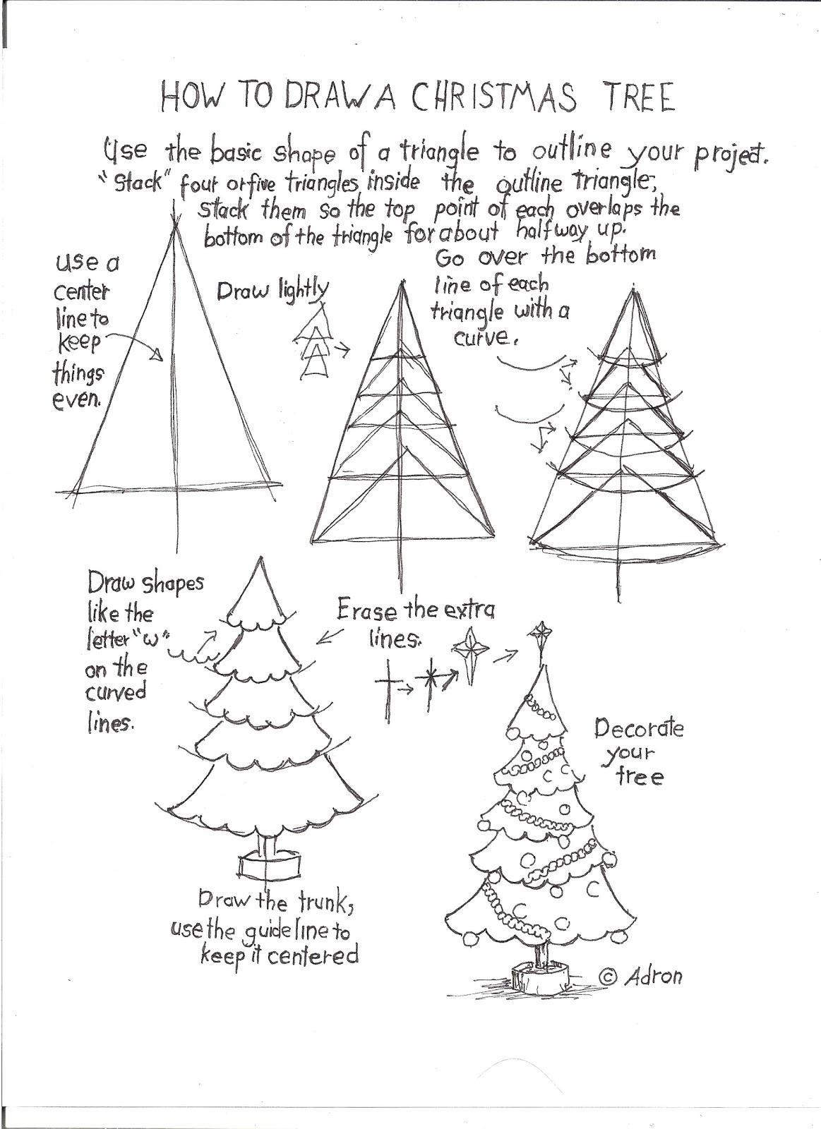 Christmas Tree Worksheet Printable How to Draw Worksheets for the Young Artist How to Draw A