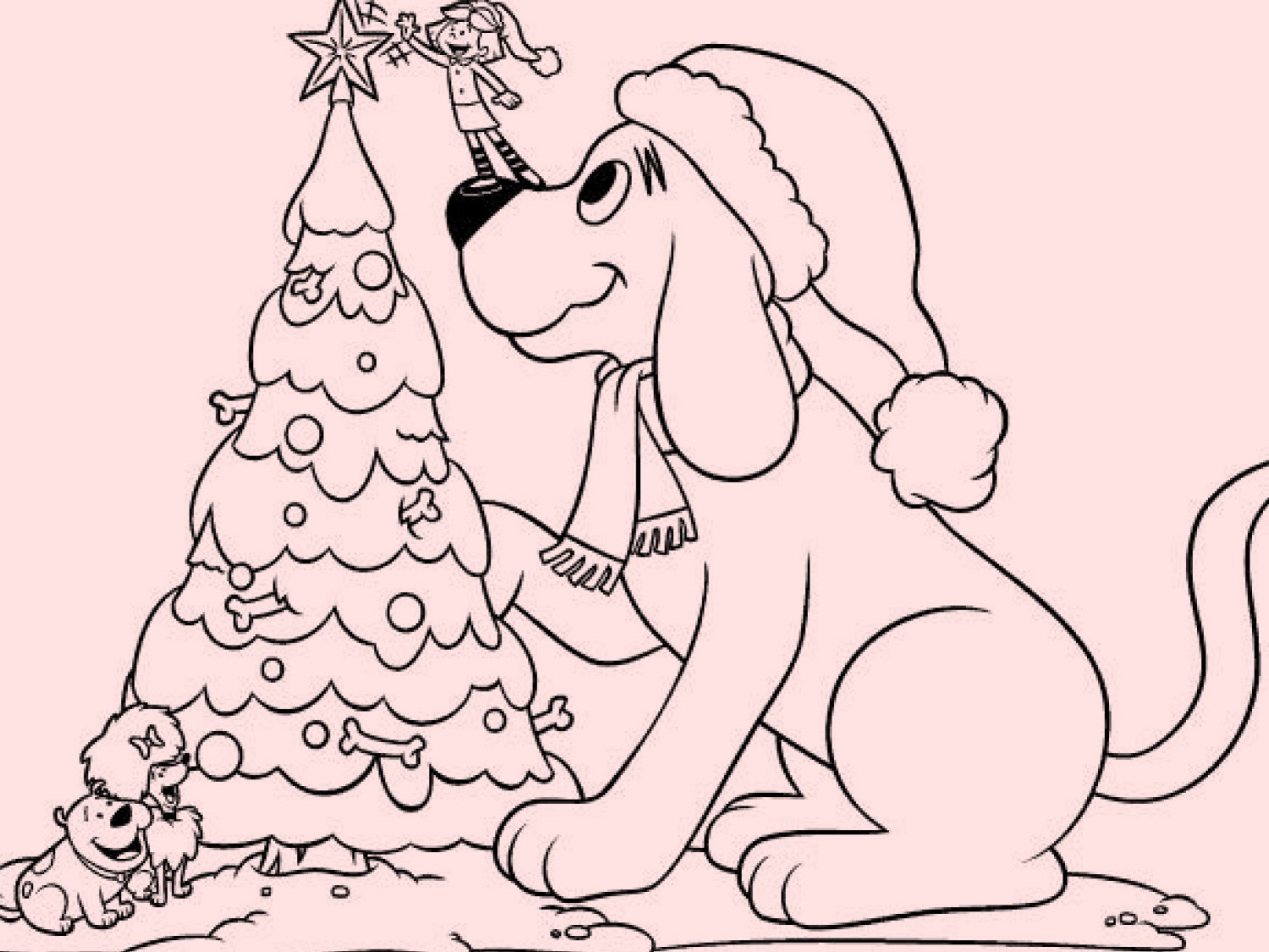 Christmas Tree Worksheet Printable Tremendous Clifford Coloring Sheets Inspirations Color