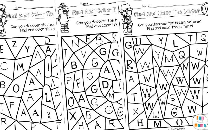 Color by Number Printables c