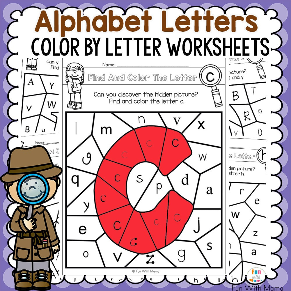 alphabet color by number