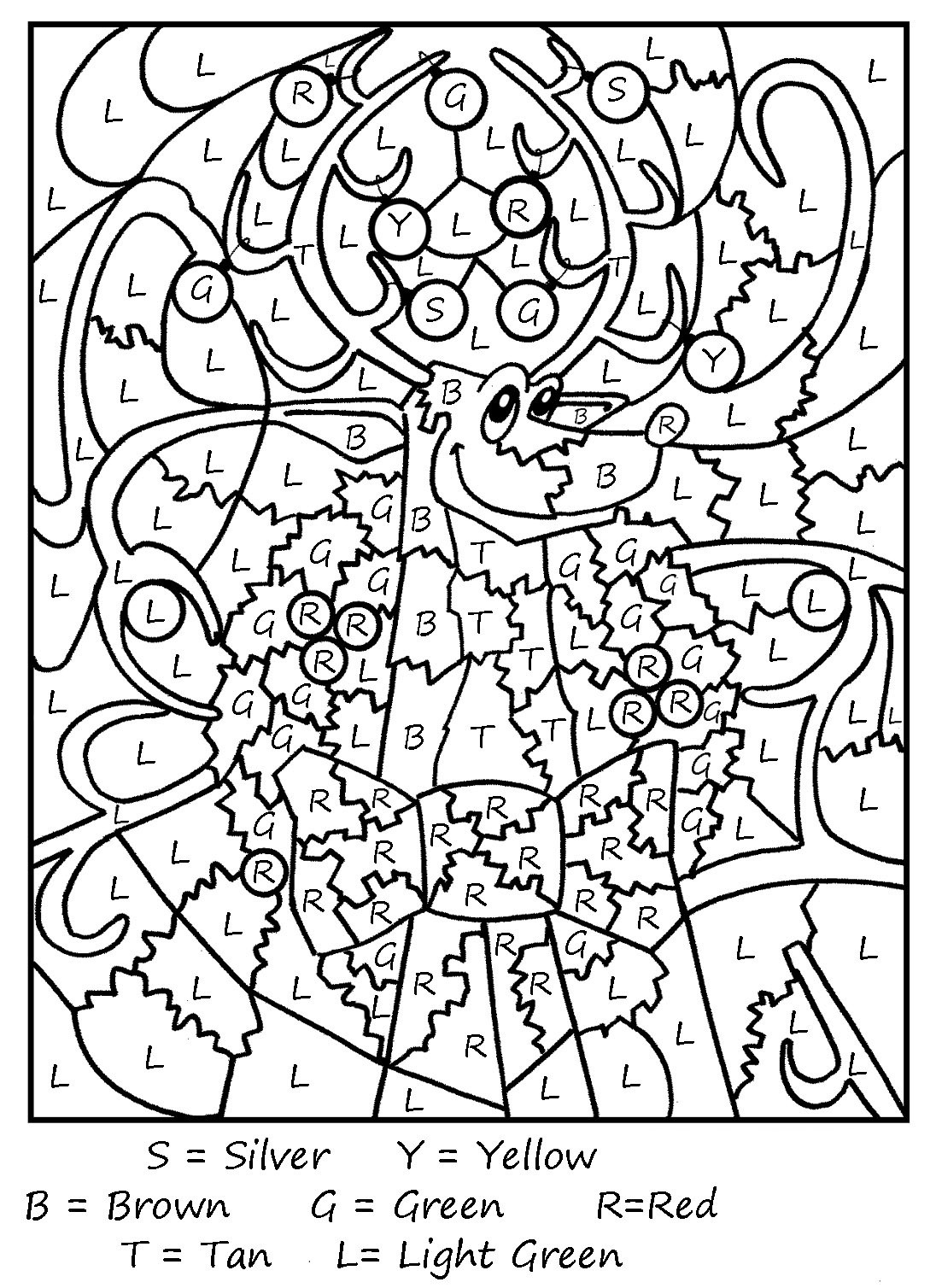 Color By Letter Coloring Pages