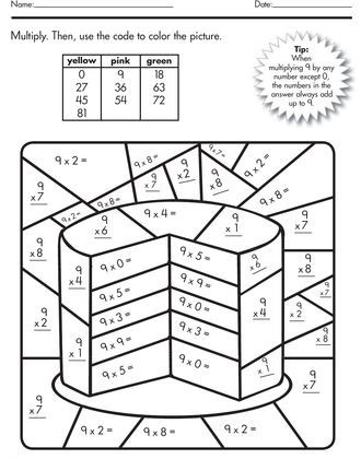 Color by Multiplication Worksheets Color by Number Multiplication Best Coloring Pages for Kids