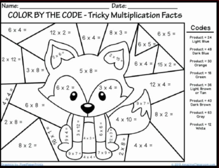 Color by Multiplication Worksheets Winter Multiplication Coloring Sheets Fun Math Coloring