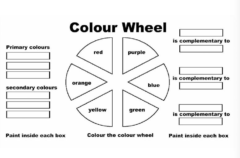 Color Wheel Worksheets Printable Color Wheel 2 Worksheet — Kinderart