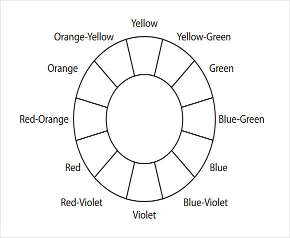 Color Wheel Worksheets Printable Free 5 Sample Color Wheel Chart Templates In Pdf