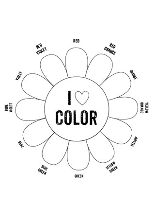 Color Wheel Worksheets Printable Printable Color Wheel Mr Printables