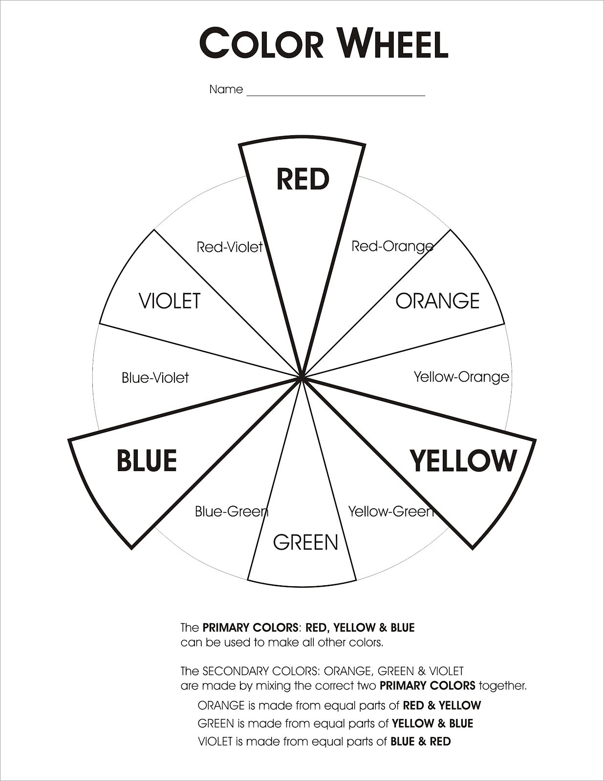 Color Wheel Worksheets Printable Printable Color Wheel Worksheet that are Delicate