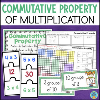 Commutative Property Of Multiplication Worksheet Mutative Property Of Multiplication Worksheets and Math Centers