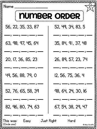 Comparing Numbers First Grade Worksheet First Grade Math Unit 11 Paring Numbers Skip Counting and