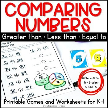 Comparing Numbers First Grade Worksheet Paring Numbers Games and Worksheets for Kindergarten and First Grade