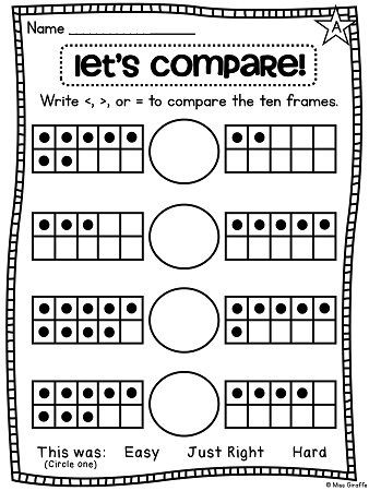 Comparing Numbers First Grade Worksheet Paring Numbers Worksheets that are Differentiated and Use