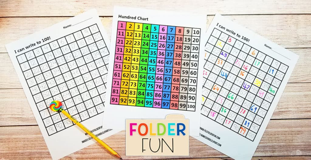 Counting to 100 Worksheets Printable Write to 100 Worksheets File Folder Fun