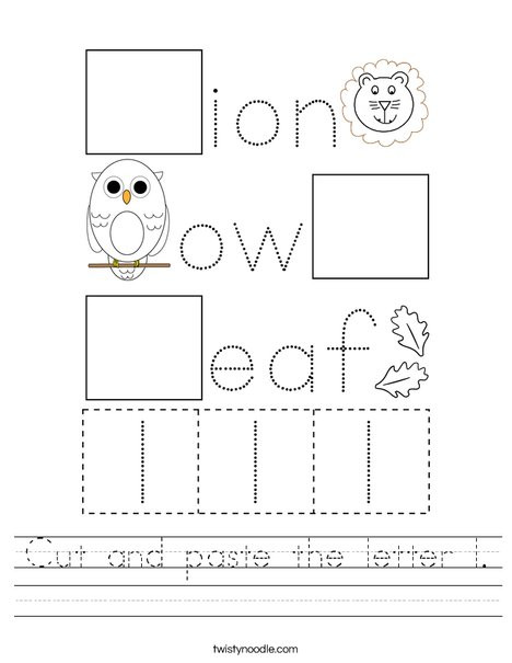 cut and paste the letter l worksheet png 468x609 q85