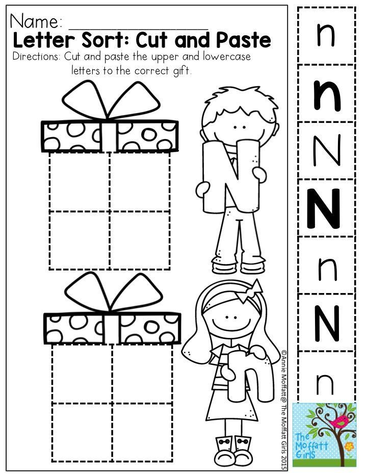 Cut and Paste Letter Worksheets December Fun Filled Learning with No Prep