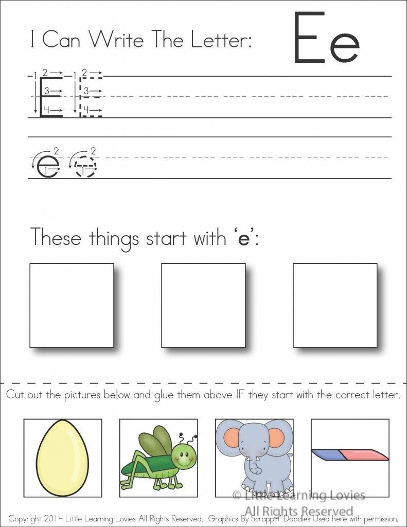 Cut and Paste Letter Worksheets Pin On Classroom