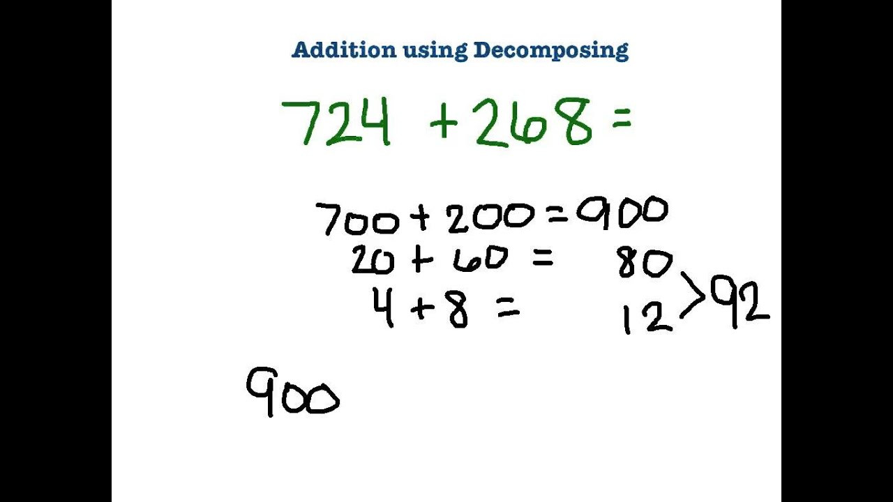Decomposing Numbers Worksheets Grade 2 3rd Grade Addition Using De Posing
