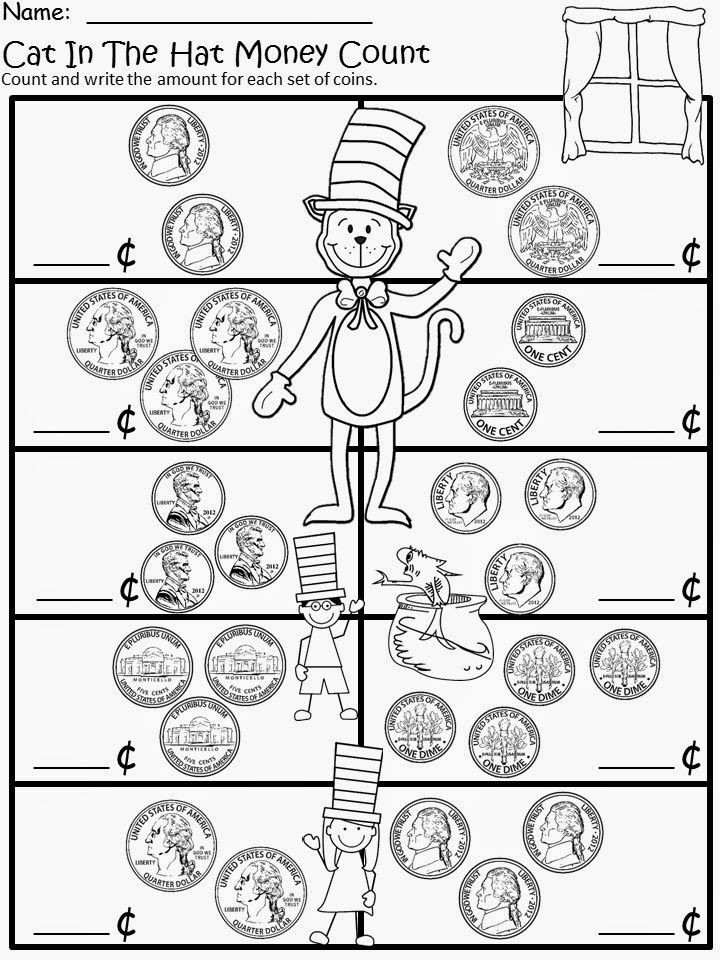 Dr Seuss Multiplication Worksheets March Into March with More Cat In the Hat