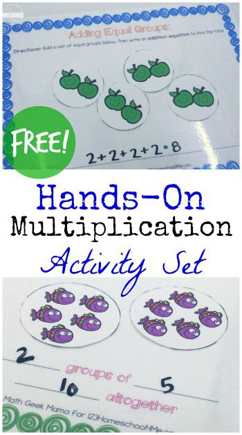 Equal Groups Multiplication Worksheet Hands Introduction to Multiplication