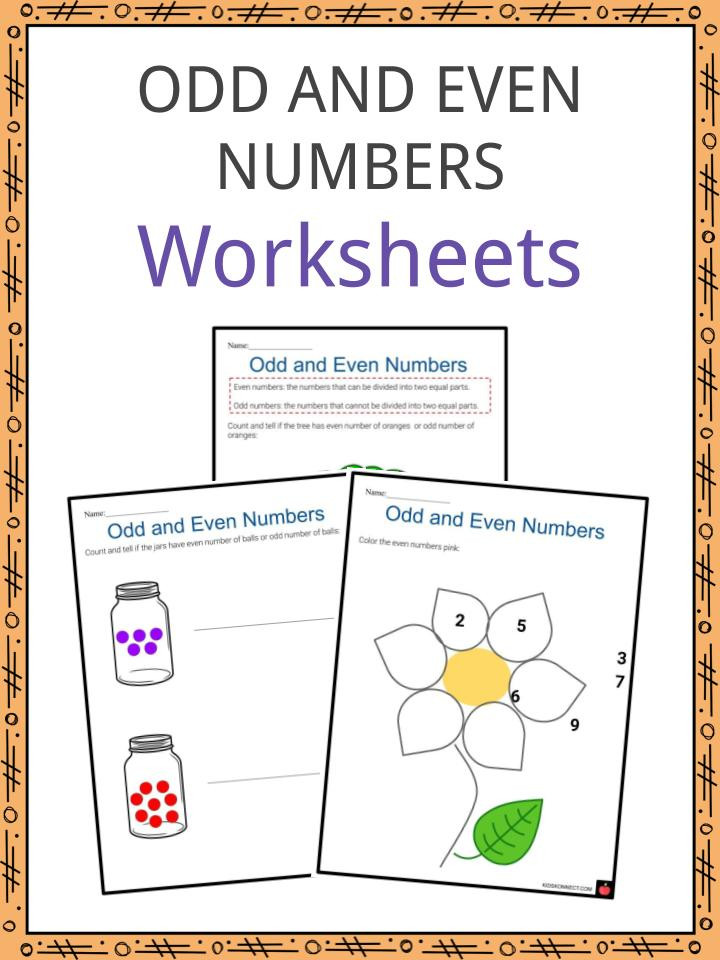 Even and Odd Numbers Worksheets Odd and even Numbers Worksheets