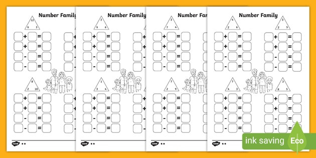 Fact Family Worksheets Multiplication Division Number Fact Family Worksheet Pack Teacher Made