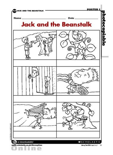 Fairy Tale Printable Worksheets and the Beanstalk Sequence Fairy Tale Activities Worksheets