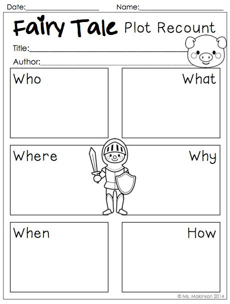 Fairy Tale Printable Worksheets Fairy Tale Printables to Be Used with Any Fairy Tale