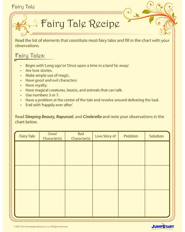 Fairy Tale Printable Worksheets Fairy Tale Recipe View Free Fairy Tale Writing Worksheet