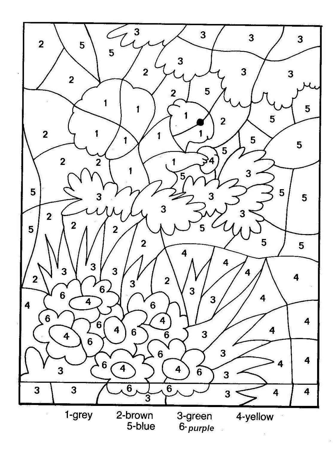 Fall Color by Numbers Worksheets Color by Number for Older Kids Activity Shelter Fall Sheets