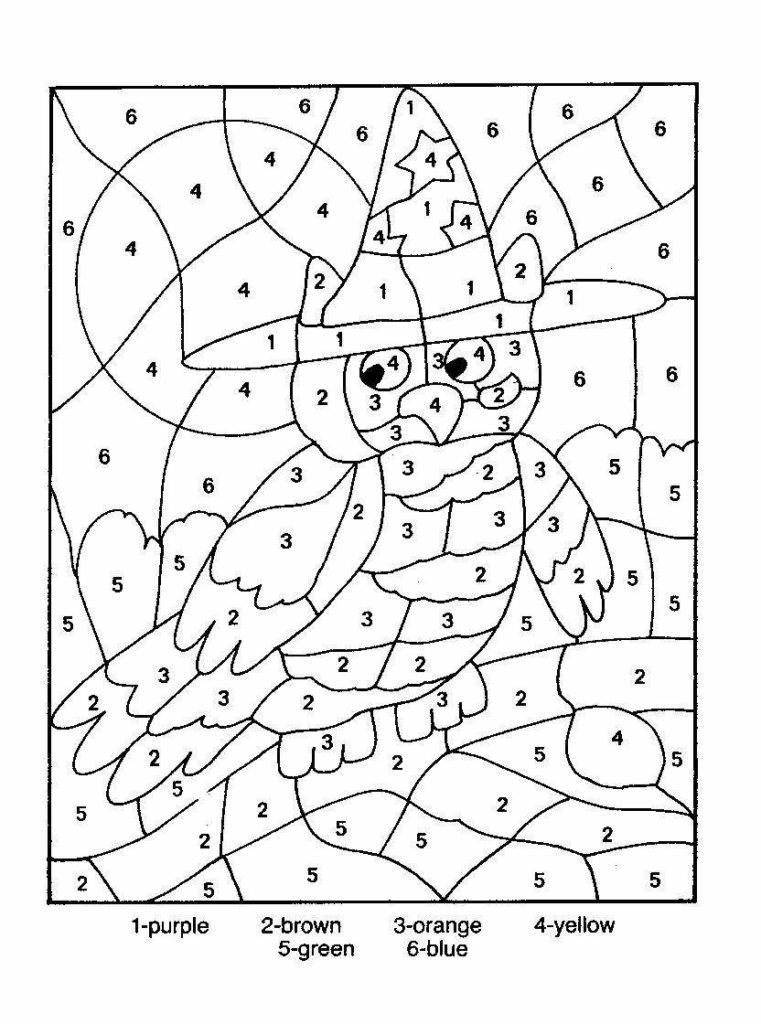 Fall Color by Numbers Worksheets Math Coloring Worksheet Fall 3rd Grade Addition Clip Art