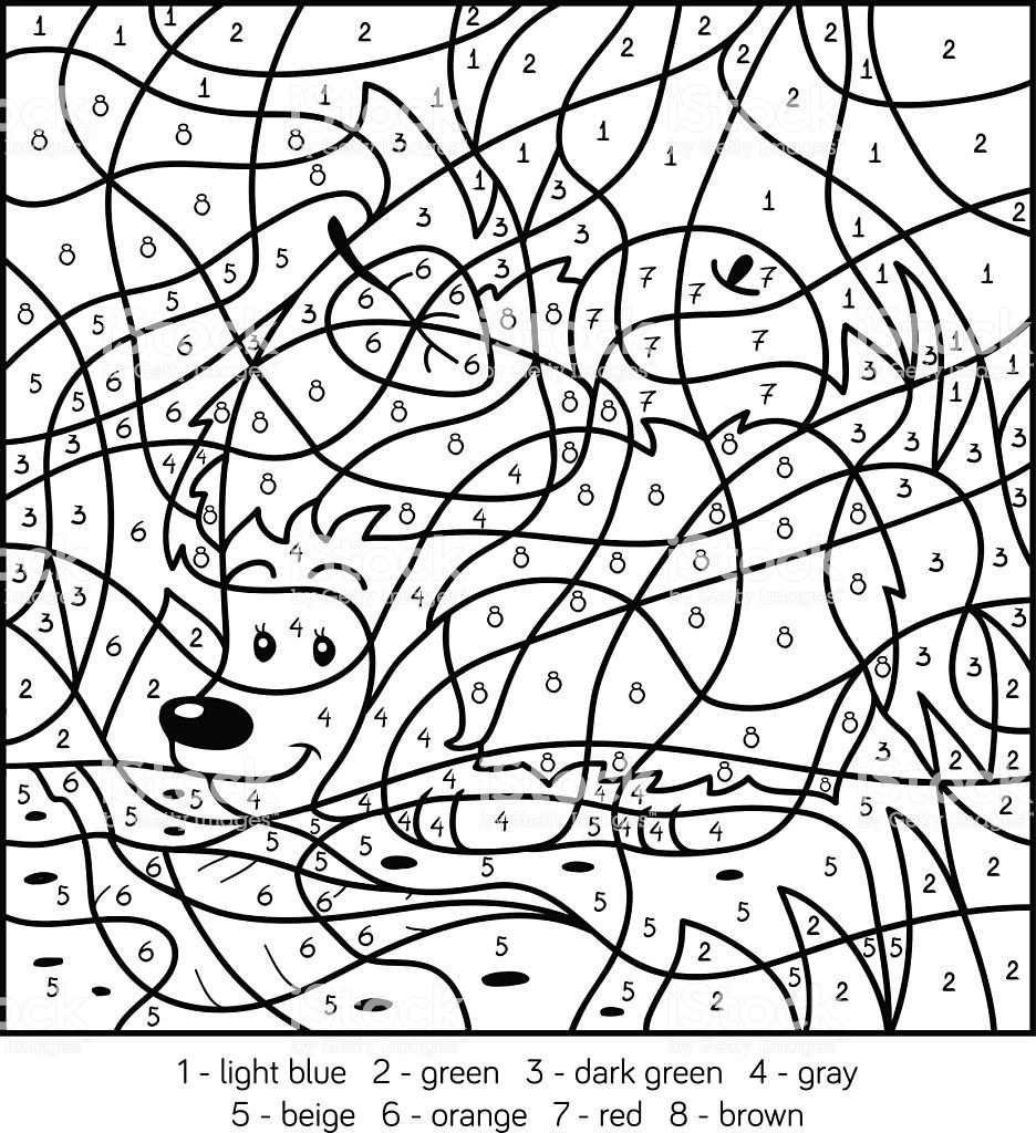Fall Color by Numbers Worksheets Math Worksheet Coloring by Numbers Free Printables Book