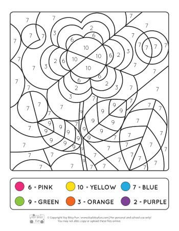 Fall Color by Numbers Worksheets Spring Color by Numbers Coloring Number Worksheets Itsy