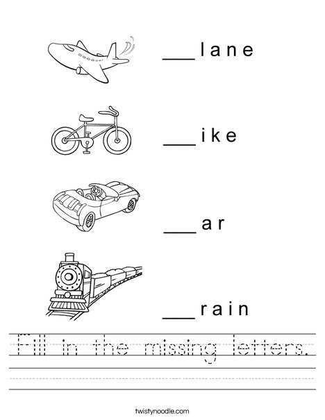 fill in the missing letters 19 worksheet