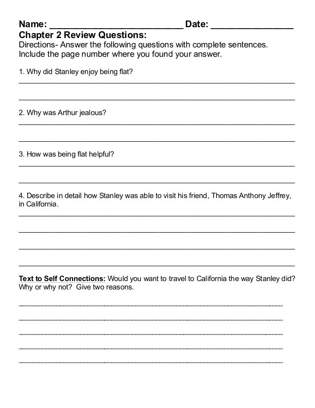 flat stanley 2014 2015 packet