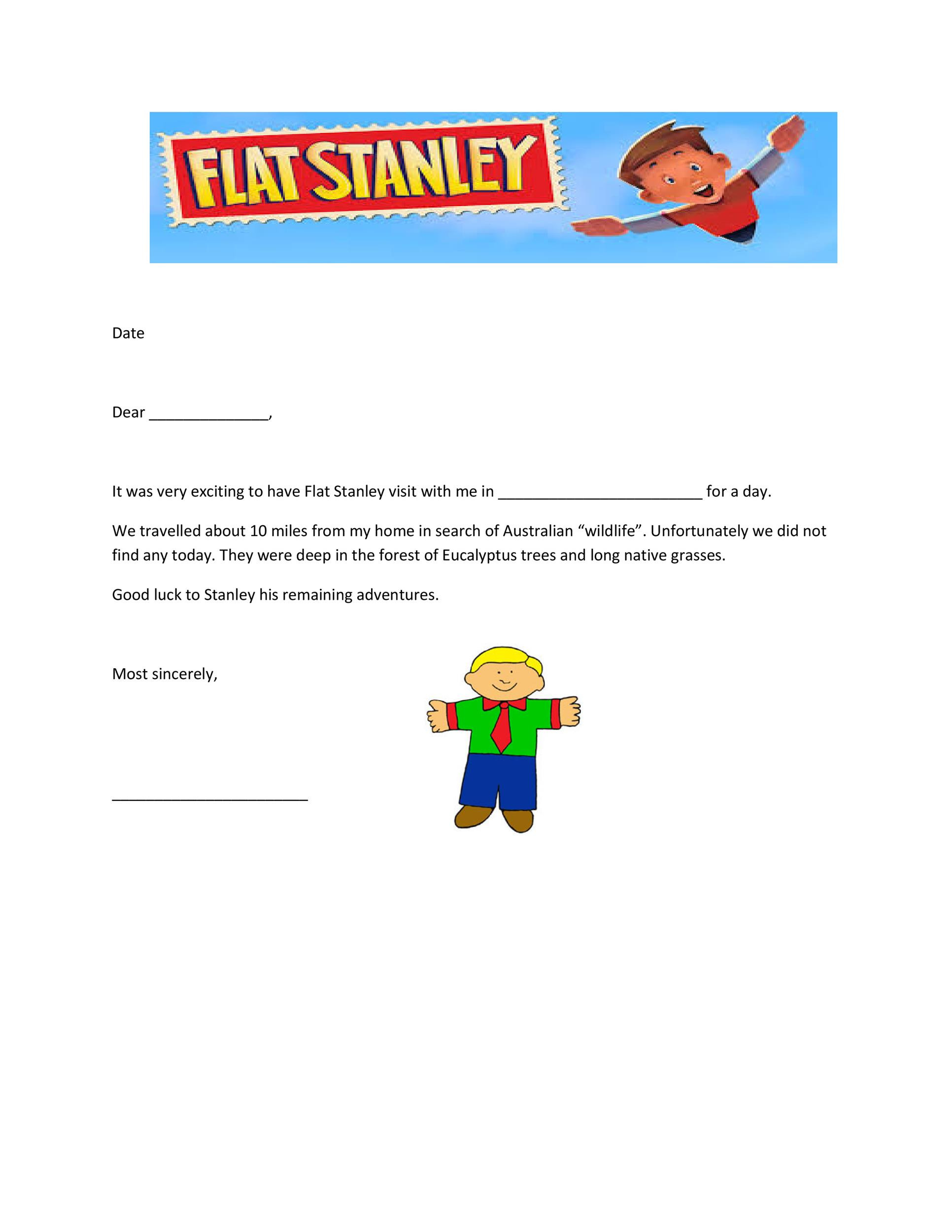 Flat Stanley Template 11