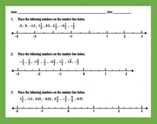 Fractions On Number Line Worksheets ordering Fractions and Decimals On Number Peertopia