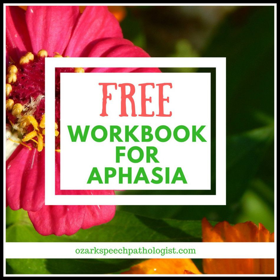 Free Aphasia Worksheets Printable Pin On Speech Language therapy Blog Posts