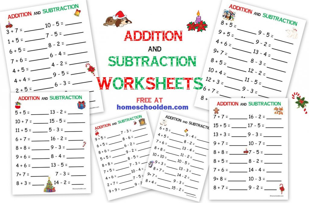 Free Christmas Multiplication Worksheets Addition Subtraction Free Christmas Math Worksheets