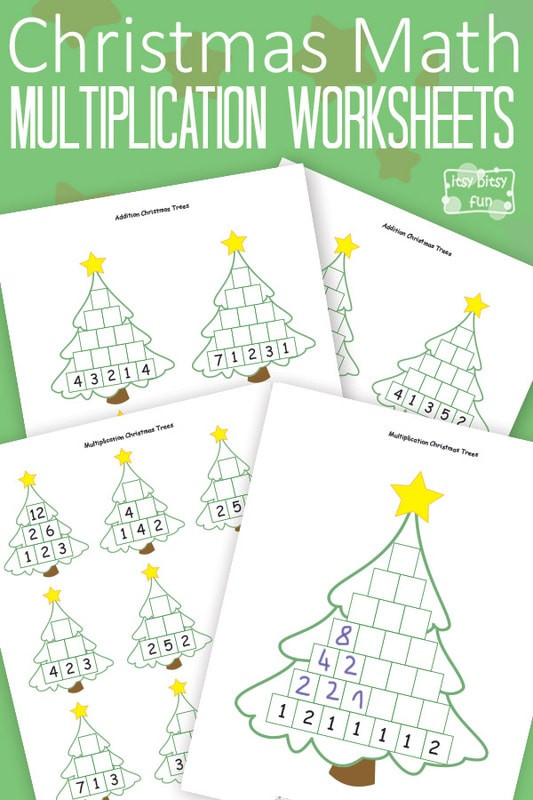 Free Christmas Multiplication Worksheets Christmas Math Worksheets Multiplication Tree Itsybitsyfun