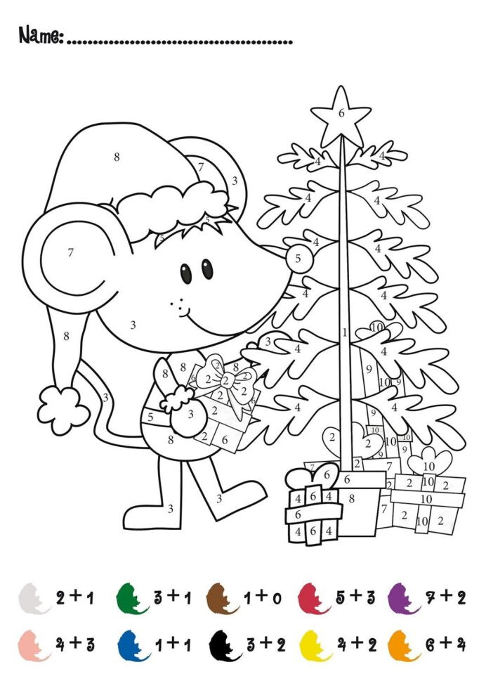 Free Christmas Multiplication Worksheets Free Color by Numbers Worksheets Christmas Math Printable