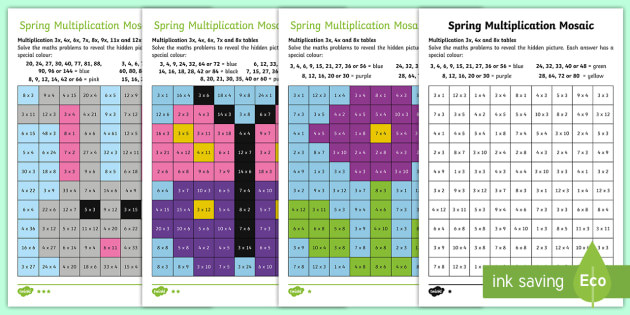 t2 m 2374 lks2 spring multiplication mosaics differentiated activity sheets