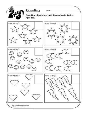 Free Number Recognition Worksheets Coloring Pages Counting Worksheet Objects Worksheets
