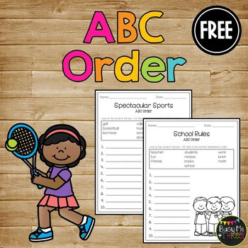 ABC Order Worksheet FREE Alphabetical Order Activities 1st 2nd Letter