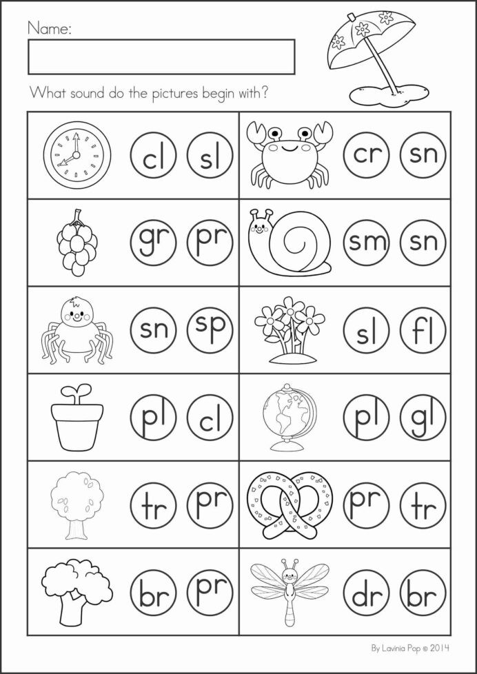 Free Printable Blends Worksheets Blends Worksheets for Kindergarten Practice Activity Free