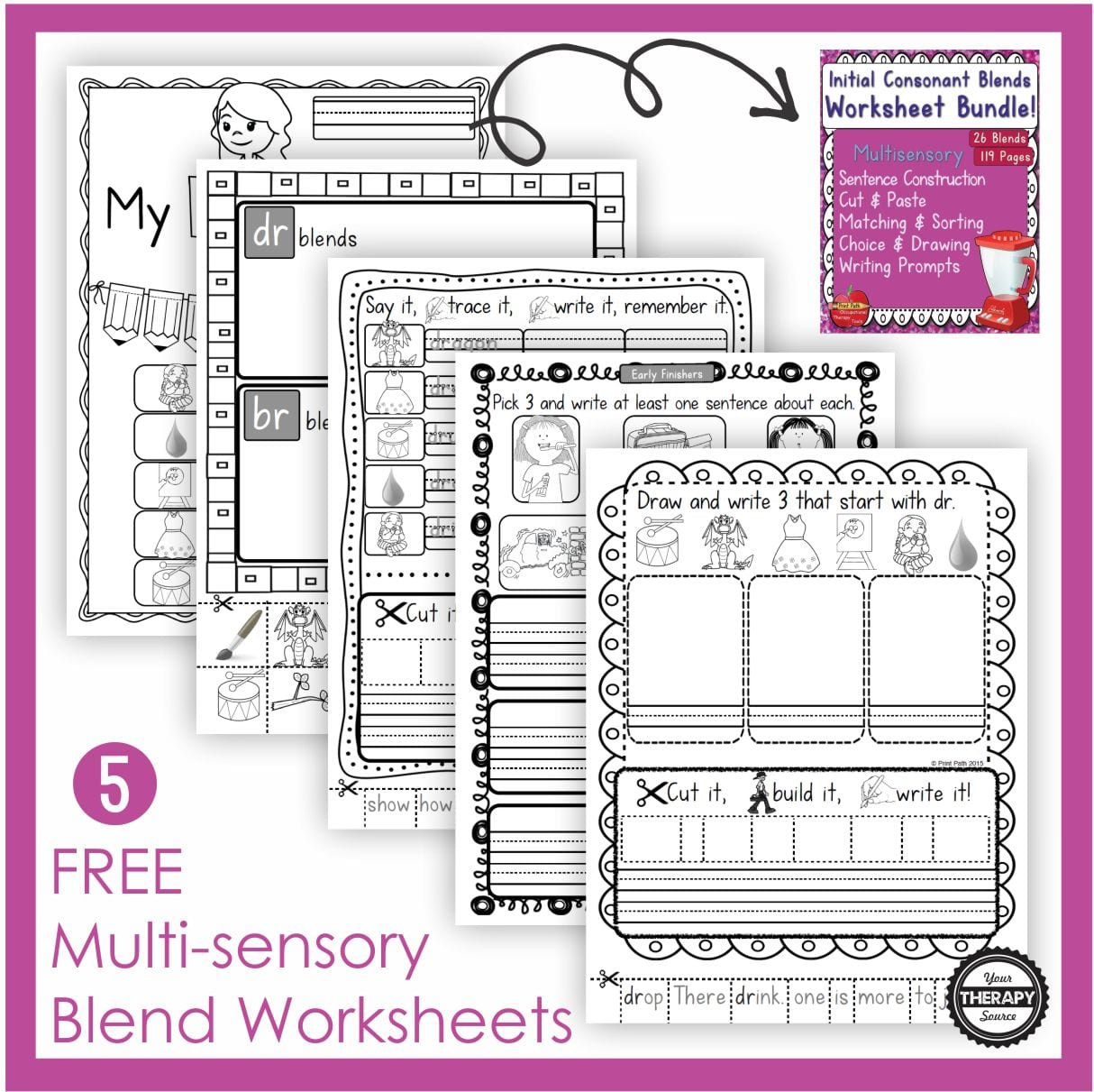 Free Printable Blends Worksheets Free Blends Worksheets Multisensory Learning Your